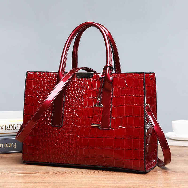 Delle donne borsa di lusso classico di alta qualità del coccodrillo della borsa modello di borsa del progettista di marca di grande capacità OL sacchetto del Messaggero della spalla C824
