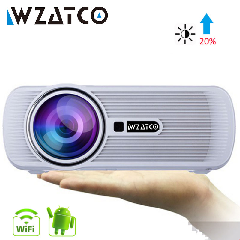 WZATCO CTL80 TV LED Projector Upgrade Android 7.1 WIFI Portable LCD Projector 2200lumens 3D Home Theater Full HD 1080p 4K Beamer Проектор