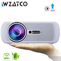 WZATCO CTL80 TV mise à niveau de projecteur LED Android 7.1 WIFI Portable LCD projecteur 2200lumens 3D Home cinéma Full HD 1080p 4K projecteur