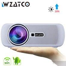 Wzatco CTL80 テレビ led プロジェクターのアップグレードの android 7.1 wifi ポータブル液晶プロジェクター 2200 ルーメン 3D ホームシアターフル hd 1080 1080p 4 18k ビーマー