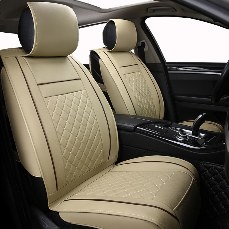 Only Front Leather Universal Car seat cover For Honda CRV 2011 2007 breathable comfortable seat covers