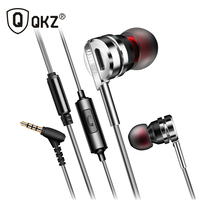 Original QKZ DM9 Zinc Alloy HiFi Earphone In Ear Stereo BASS Earphones Metal Fone De Ouvido