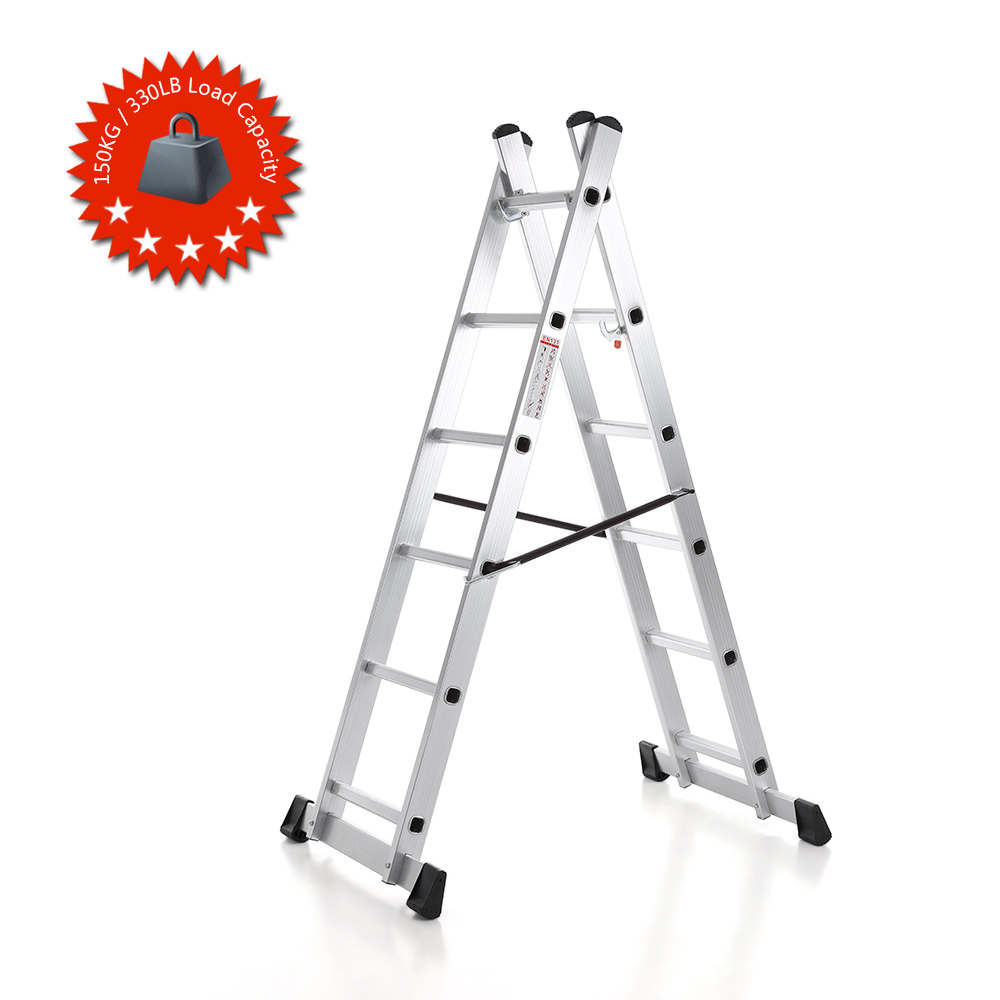 Ladder Scaffold Platform : Ikayaa us stock in step ladder scaffolding aluminum