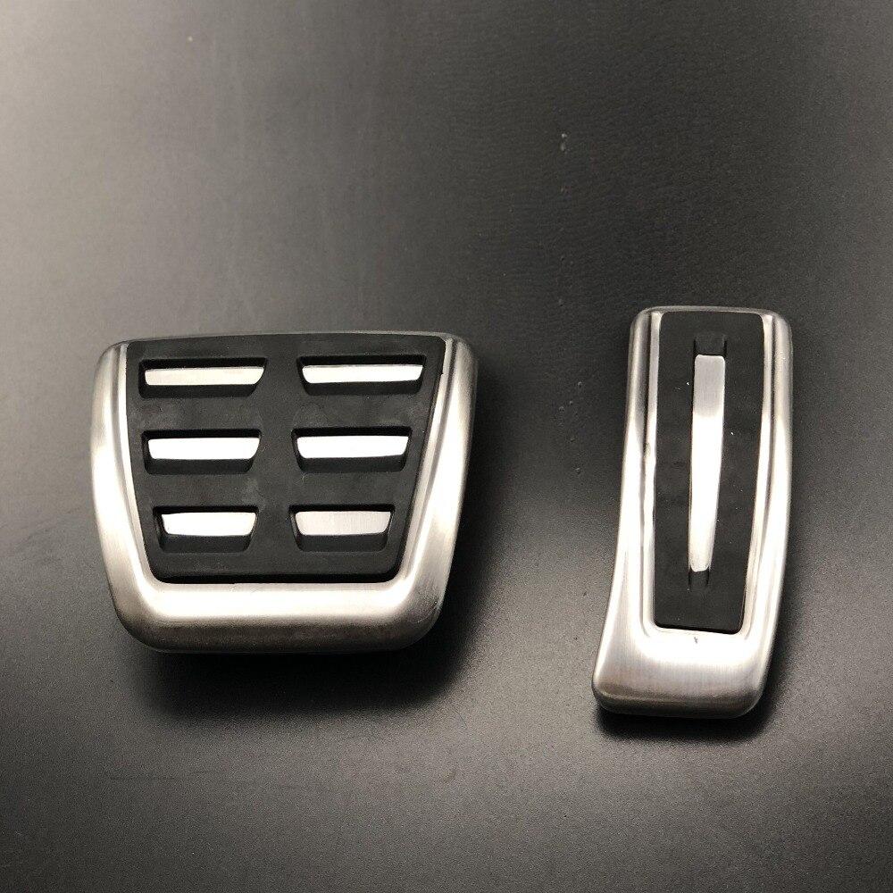 Pedal de combustible para Acelerador de freno de estilo de coche, funda para Audi A1 A4 B8 B9 A5 S5 A6 A7 A8 Q5 SQ5 Q7 8R LHD RHD, accesorios para coche