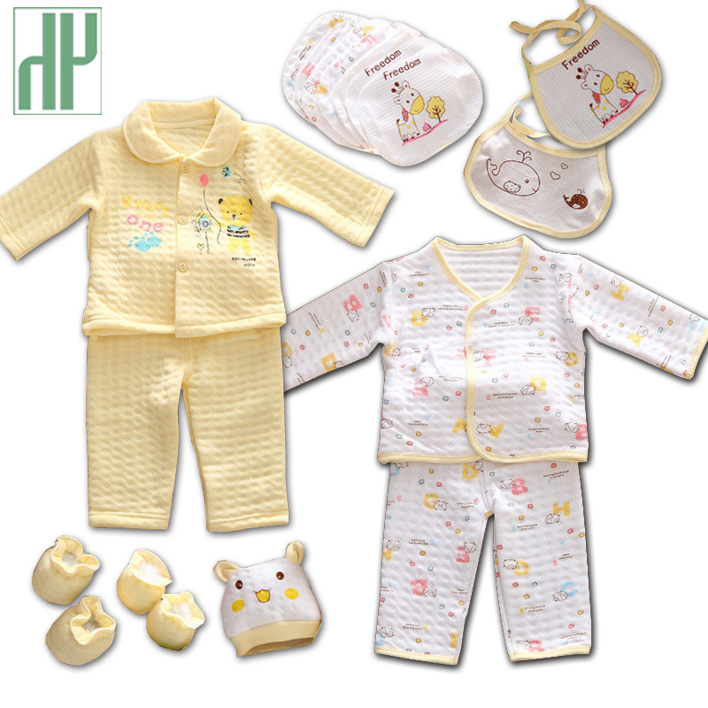 18pcs Set Autumn Winter Newborn Baby Girls Clothes Soft 2pcs Cotton Long Sleeve Infant Winter Clothing