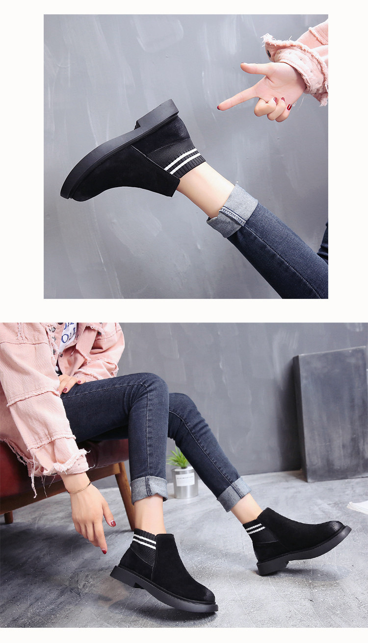 The new autumn 2018 Martin boots flat short tube with restoring ancient ways round head women's boots 46