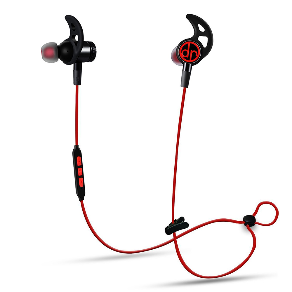 Bluetooth 4.1+EDR Earphones Noise Cancellation IPX7 Waterproof HD Stereo Magnetic Wireless Sports Earphone with Mic Voice prompt