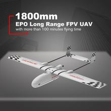 Skyhunter 1800mm Lightweight Wingspan EPO Long Range FPV UAV Platform RC Racing Drone Quadcopter Airplane Kit(China)