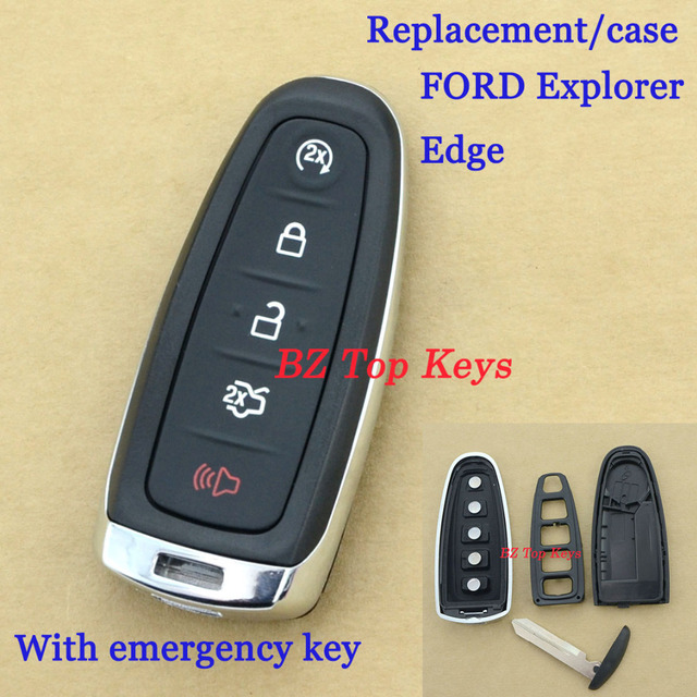 F Remote Key Fob Uncut Blade Case  Button With Small Key For Ford Edge Keyless