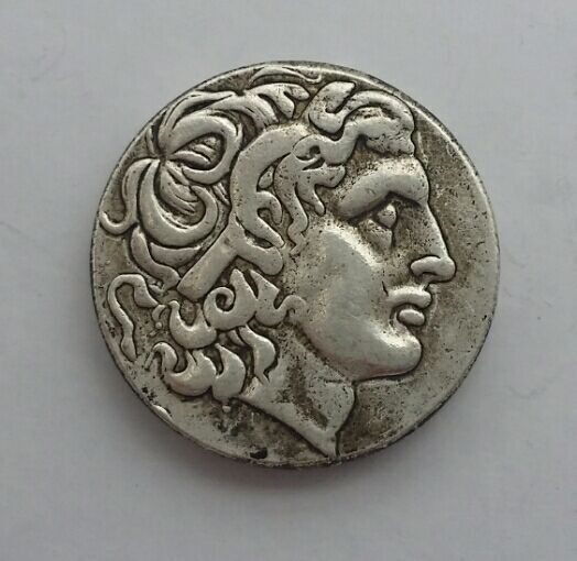 G(01)Alexander III the Great 336-323 BC.Silver Drachm Ancient Greek Coin copy coins