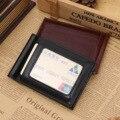 PU de Cuero Clips Para Billetes Monedero Para Hombre Precio del Dólar de Metal Clips De Dinero billeteras Delgadas abrazadera para money card organizador