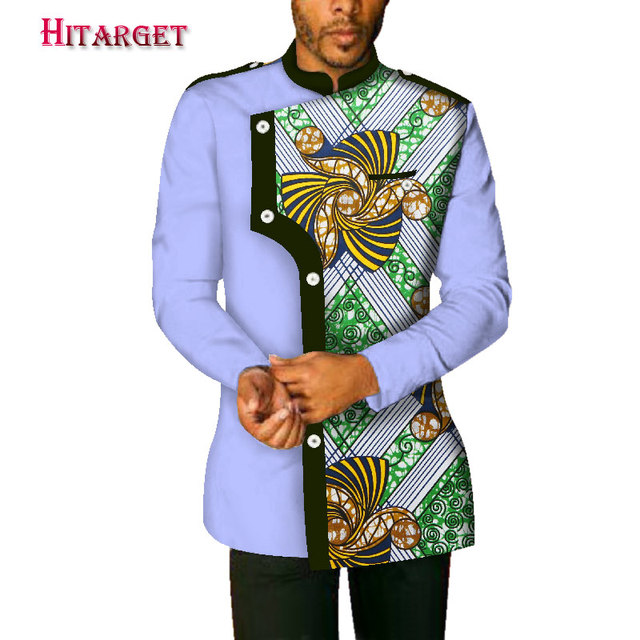 2019 autumn new african men's coat private custom wrist sleeve stand collar with lining coat casual style 100% cotton WYN340
