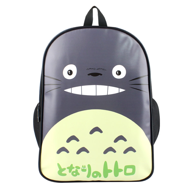 Anime My Neighbor Totoro PU & Canvas Colorful Laptop Backpack Travel Double-Shoulder Bag School Bag anime my neighbor totoro printing