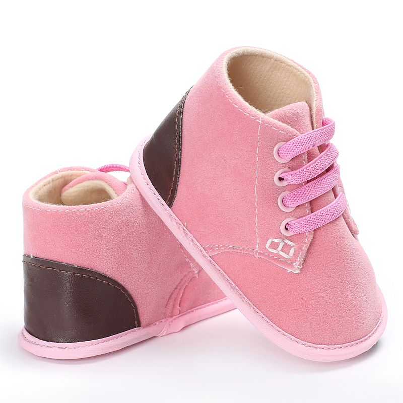 2017 Autumn Winter Baby Boys Girls Shoes Soft Bottom Anti-skid Step Solid Baby Shoes Crib Bebe Kids First Walkers Sneakers