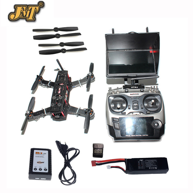 JMT DIY Racer 250 FPV RTF Drone with SP Racing F3 Flight Controller CCD Camera Radiolink AT9S TX&RX With Battery FPV Monitor jmt diy racer 250 fpv rtf drone with sp racing f3 flight controller ccd camera radiolink at9s tx