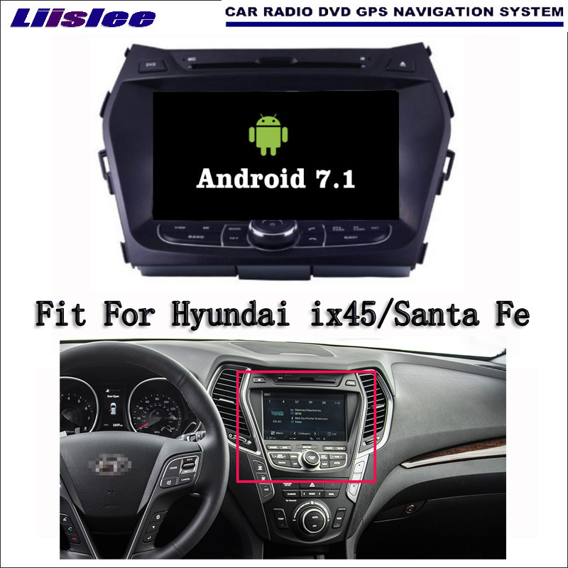 Android 7.1 2G RAM For Hyundai ix45/Santa Fe 2012~2016 Car Radio Audio Video Multimedia DVD Player WIFI DVR GPS Navi Navigation ljda 2 din android 7 1 car dvd player for hyundai santa fe elantra wifi gps radio autoaudio stereo multimedia 2g 16g quad cores