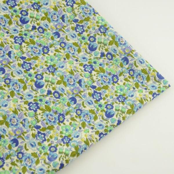 Светло-зеленый хлопок Ткань Элегантные цветы Дизайн Вышивание ткань Лом Бронирование лос ...