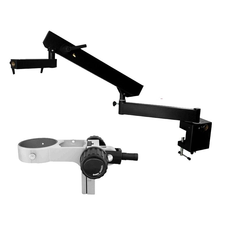 Articulating Arm Pillar Clamp Stereo Microscope stand for trinocular binocular video microscopio pcb phone repair