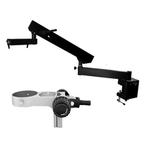 Articulating Arm Pillar Clamp Stereo Microscope stand for trinocular /binocular video microscopio pcb phone repair lucky zoom brand articulating arm pillar clamp stand for stereo microscopes a3 microscope accessories free shipping