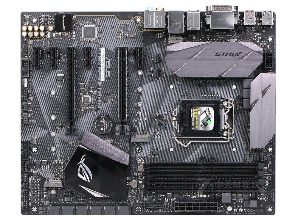 Asus ROG STRIX B250F GAMING Desktop Motherboard B250 Socket LGA 1151 i7 i5 i3 DDR4 32G SATA3 USB3.0 ATX free shipping asus z170 deluxe original used desktop motherboard z170 socket lga 1151 i7 i5 i3 ddr4 64g sata3 usb3 0 atx