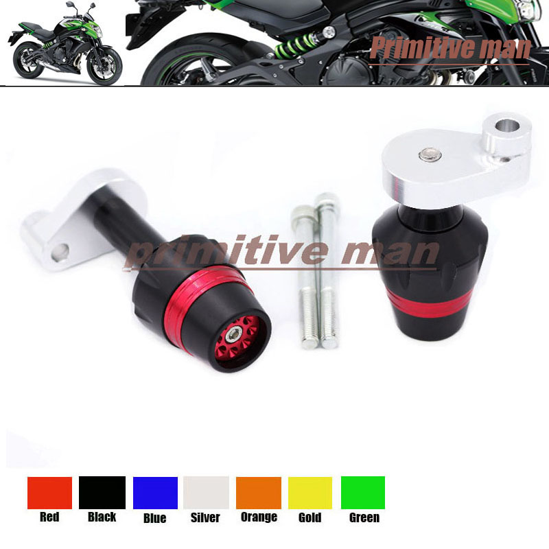 ФОТО For KAWASAKI KLE 650 KLE650 Versys 2007-2014 Motorcycle Frame Sliders Crash Protector Red