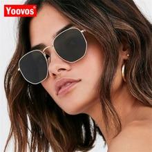 Yoovos 2019 Alloy Sunglasses Women/Men Brand Designer Vintage Glasses Ladies Classic Metal Sun Glasses Mirror Oculos De Sol