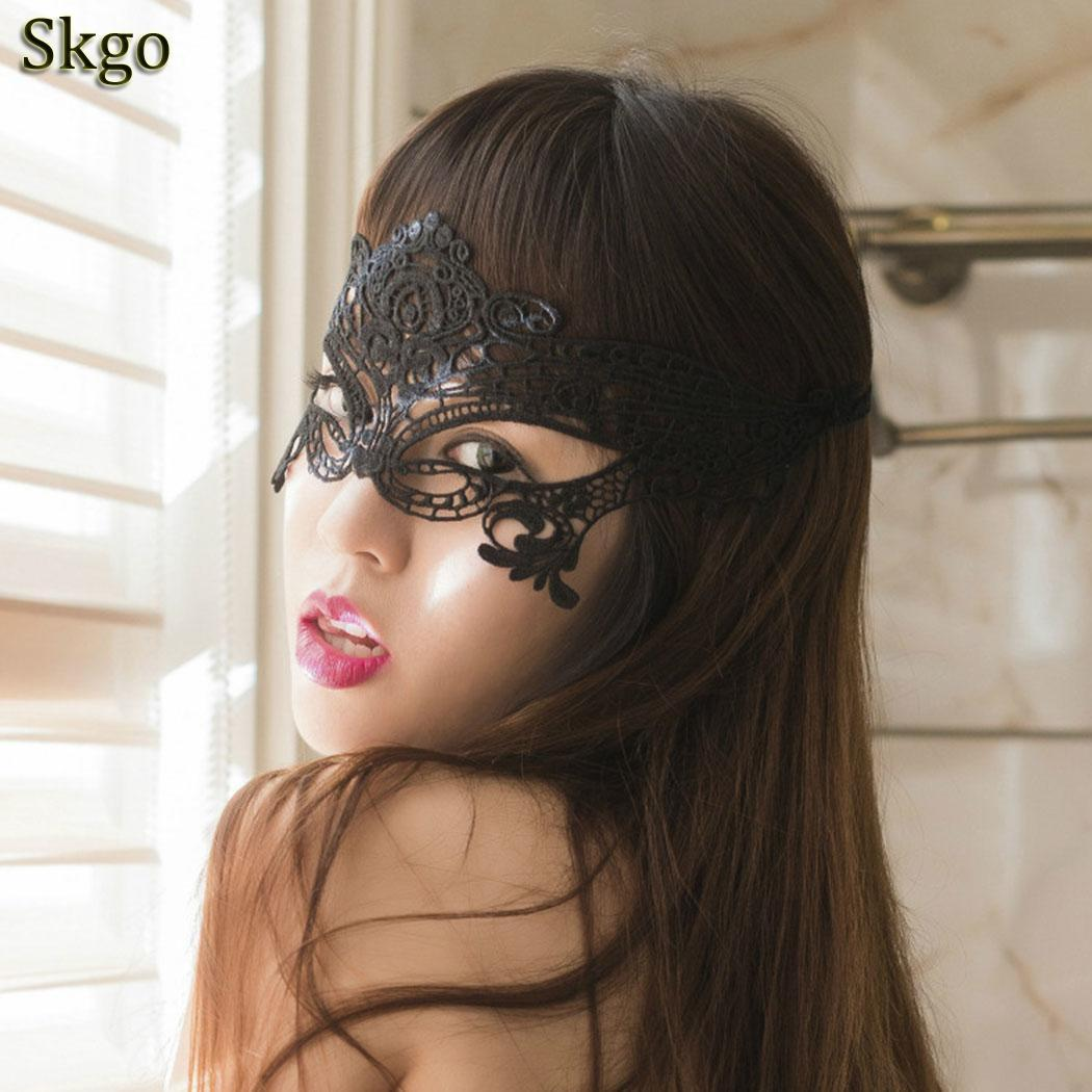 Black Sexy Lady Lace Mask Eye Mask Hot Sales For Masquerade Party Fancy Dress Costume Halloween Party Fancy Party Accessory in Party Masks from Home Garden