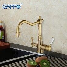 GAPPO 1 satz Geheimnisvolle Stil Küchenarmatur Drehschalter Wasser Reinigung Funktion Kalt Warmwassermischer Schwarz Kran G4391-4