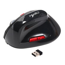 Optical Wi-fi Mouse Wholesome Ergonomic Mouse four Buttons With 2400DPI Swap Vertical Mouse For Pc PC laptop computer