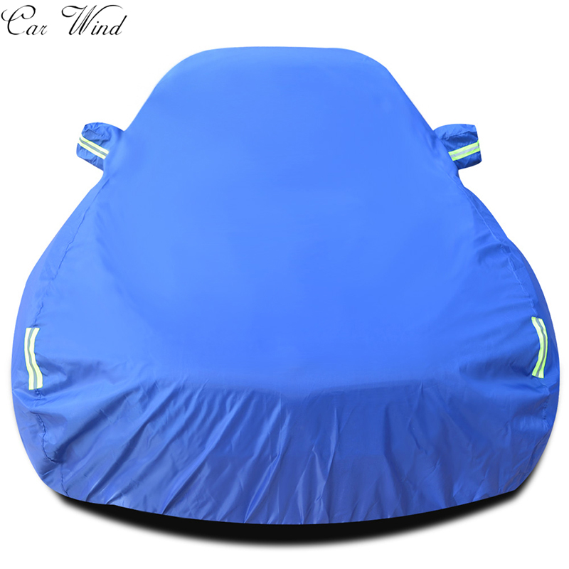 Car wind Custom Oxford Waterproof Thicken Case For vw toyota Car Sunshade Snow Protection Dustproof rainproof Full Car Cover