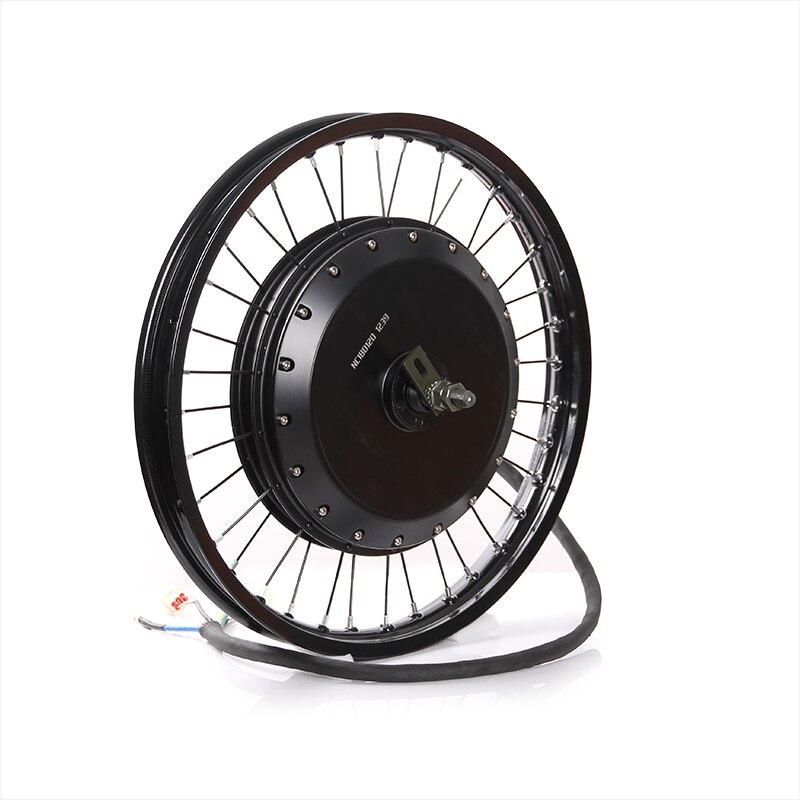 12kw-15kw roue de moteur de moyeu de crête QS V3 273 roue de moteur de vélo d'enduro électrique avec des pneus