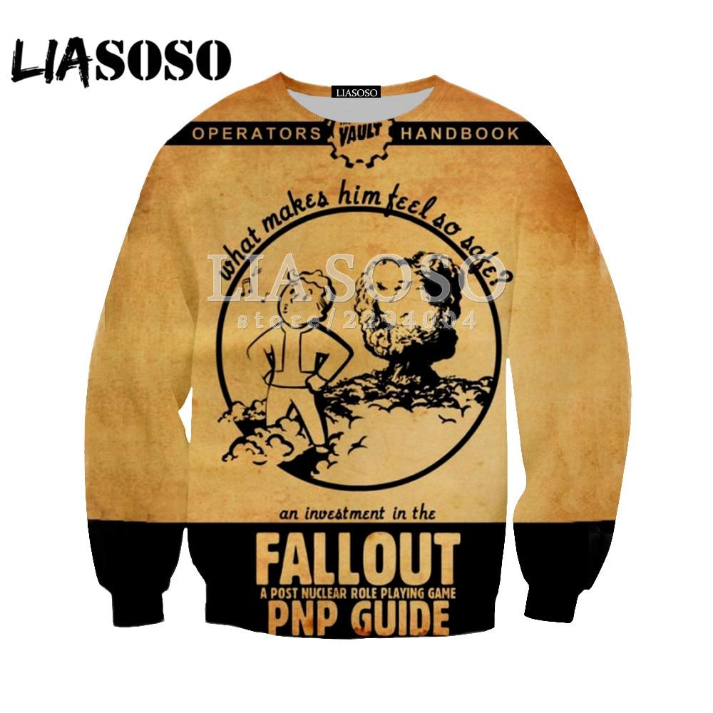 LIASOSO Newest Fallout Finger Hoodie Men/Women Sweatshirts 3D Printed Hooded Tops Streetwear Hoodies Pullovers Clothing Y147