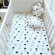 Noir blanc Nuages gouttes de pluie housse de Matelas rose couleur coton bébé lit drap housse pour bébé filles garçons drap de lit berceau