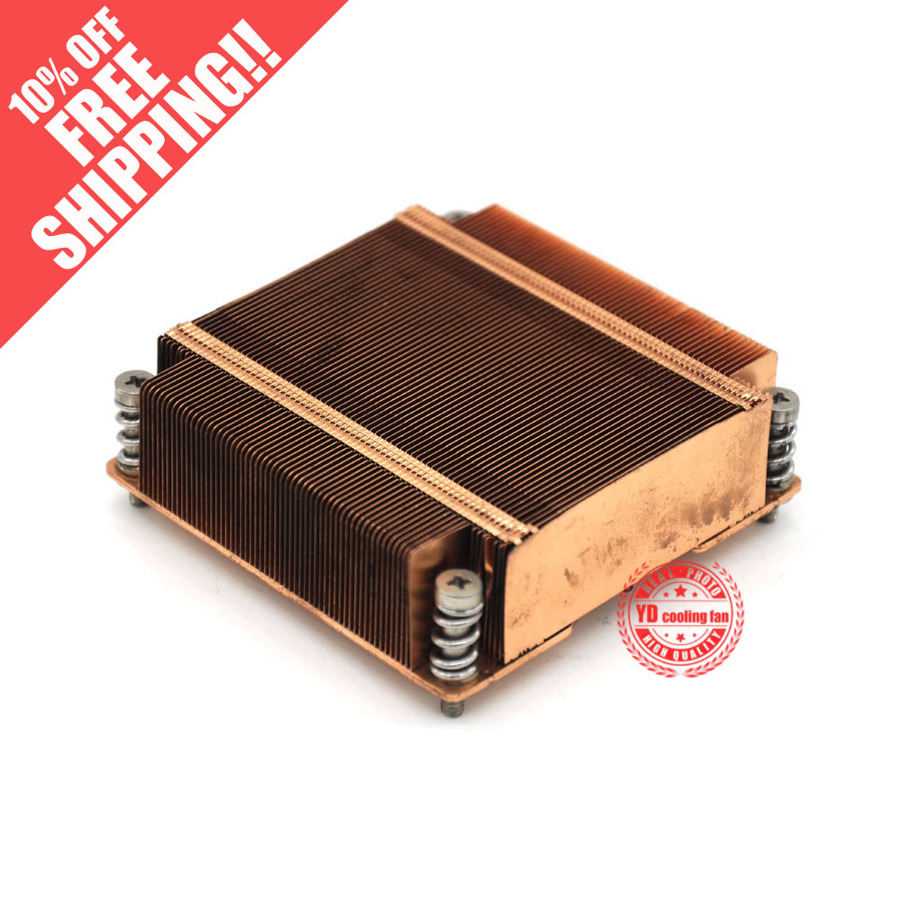 1U server 1366 X58 CPU copper heatsink 9cm*8.5cm*3.2cm