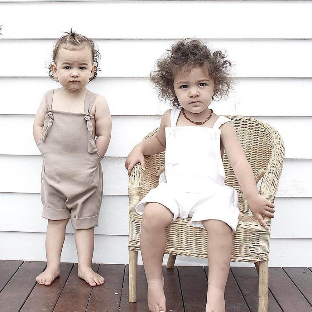 Children Kids Girl Boy Jumpsuit Jumper Bodysuit Sleeveless Fashion Summer Clothing YH-17