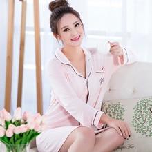 Summer Sleep Lounge Modal Cardigan Women Sleepshirts Plus Size Women Nightgowns 8968