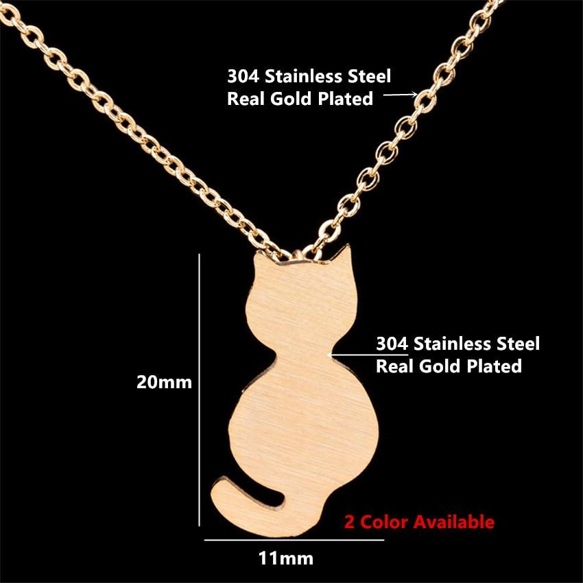 Little Cat Choker Gold Chain Jewelry 3