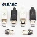 10 шт., 5 штырьков Micro USB, штекер-коннектор, зарядное устройство, 5P, USB-разъем для зарядки 4 в 1, белый, черный