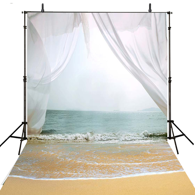 Sea Beach Photography Backdrops Vinyl Backdrop For Curtain Wedding Background Photo Studio Foto Achtergrond
