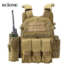 Military Vest Hunting Tactical Plate Carrier Vest Magazine Chest Rig Airsoft Paintball Gear Colete Tatico Askeri Malzeme XA821WA
