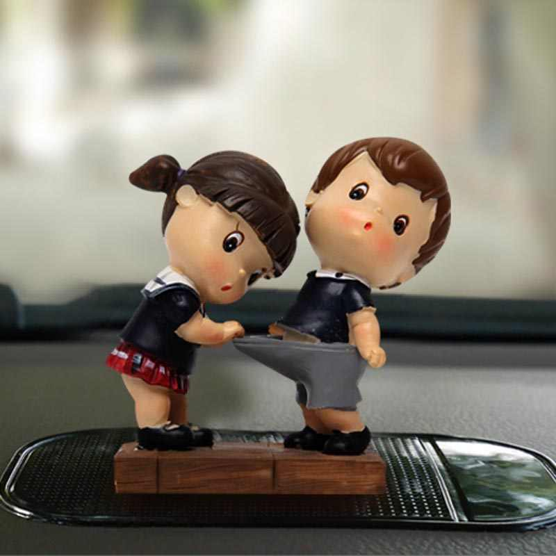 Car Decoration Cute Couple Doll Creative Cartoon Decoration