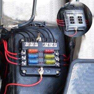 Image 5 - WUPP 12V 32V Plastic Cover Fuse Box Holder M5 Stud With LED Indicator Light 6 Ways 12 Ways Blade for Auto Car Boat Marine Trike