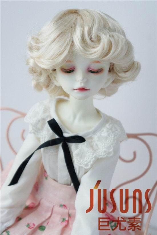 JD369 1/4 MSD парики для шарнирных кукол модный кудрявый парик 7-8 дюймов BJD синтетический, мохеровый, для куклы парики кукольные аксессуары - Цвет: Blond SM202