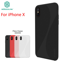 Wholesale 10pcs Lot NILLKIN Flex Case For IPhone X Cover High Quality Silicone Hard PC Case