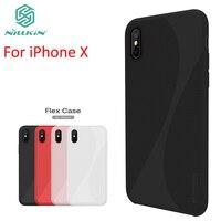 En gros 10 pcs/lot NILLKIN Flex Cas Pour l'iphone X Couverture de Haute Qualité En Silicone + Dur PC Cas Pour iPhone X Anti-chute Couverture