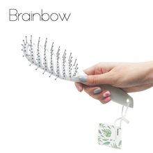 Brainbow 1piece Hair Brush Hair Scalp Massage Massage Handle Tangle Detangling Comb Hairdressing Styling Tools Hair Care & Styling