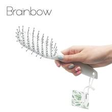 Brainbow 1piece Hårborste Hårbotten Massage Comb Handtag Tangle Detangling Comb Frisör Styling Tools Hårvård & Styling
