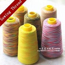 DIY 40/2 hochwertigen 3000Y polyester nähgarn bunte gewinde nähen lieferungen faden maschine stickerei industrielle regenbogen
