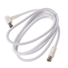 9.5mm White 90 Degrees Male To F Type Coaxial TV Satellite Antenna Cable