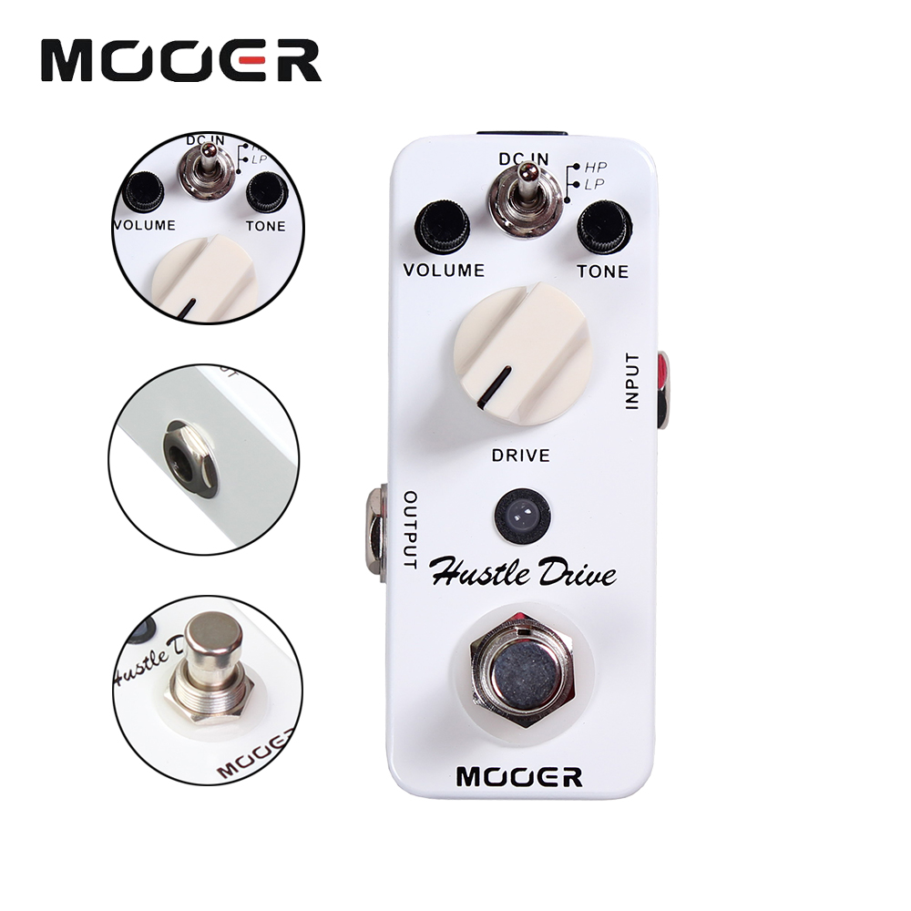 Mooer Full metal shell Effects Micro Hustle Drive Distortion Guitar Effect Pedal With 2 Working Modes True Bypass ams 3 mod station modulation ensemble guitar effect pedal aroma mini digita pedals effects with true bypass full metal shell